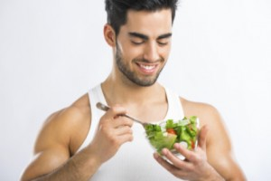 Man eating healthy food: SBDMedical Urological & Prostate Health Blog