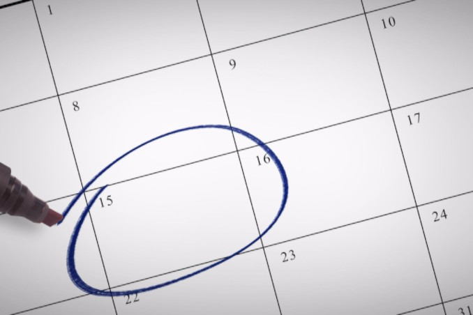Date circled on calendar: SBDMedical Women's Health Blog
