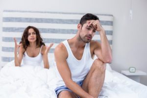 young man with erectile dysfunction